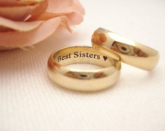 Personalized Gold Filled Ring 6mm Band ...Custom Engravable ring, eternity ring, wedding band, Promise ring, engagement ring