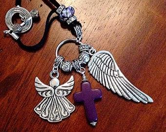 Car Accessories, Rearview Mirror Charm, Car Mirror Charm, Rear View Mirror Charm, Christian Keychain, Car Mirror Charm, Cowgirl Keychain