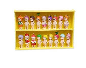 Mify Angel Display Case  with Transparent Sliding Door_Yellow