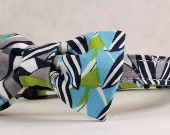 Cat Collar and Bow Tie or Flower -  Blossom Plaid