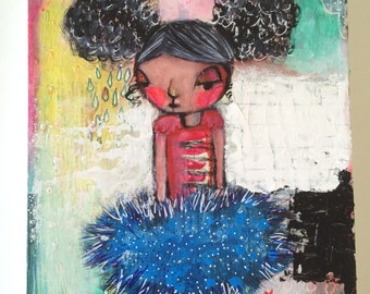 Original painting on Stretched Canvas - OOAK - The Only One -