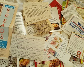 Grandmas Lot of Recipes Collection Over 200 Vintage