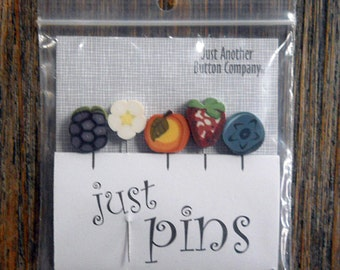 Notions: Just Pins - Berries and Cream JP117 - Decorative Pins
