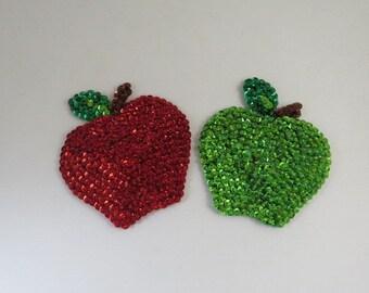 Apple Kitchen Magnet Refrigerator Magnet Felt Magnet Fruit Magnets Beaded Glass Magnets