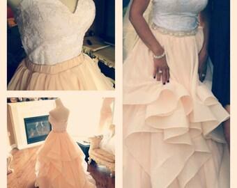 Wedding corset, wedding skirt - 2 piece lace wedding dress