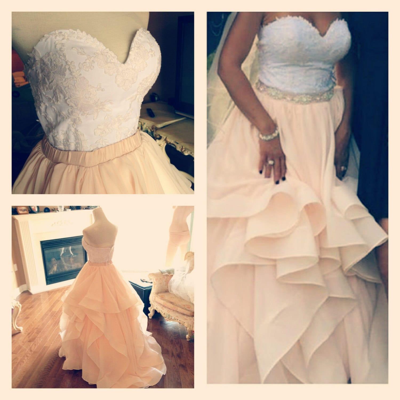 Wedding Corset Skirt 2 Piece Lace Dress