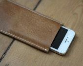 Real Genuine Leather iPhone 5 / iPhone 5s Sleeve Sheath Case Handmade Brown