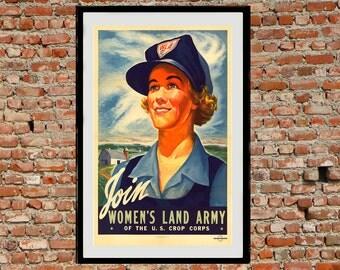 Reprint of the WW2 Propaganda Poster - WLA