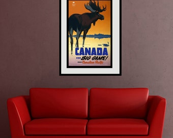 Reprint of a Vintage Canadian Pacific Railway Poster