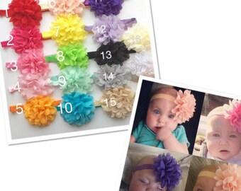Baby headbands PICK 5, headband lot, baby newborn headband, cheap bows, girl bows, little girl headband, lot of headbands, baby girl gift
