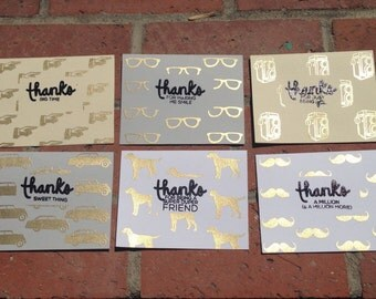 Thank you card set (various styles)