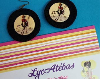 """Earrings Lycatebas """"Button Parisienne"""""""