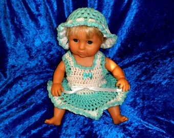 TINY TEARS DRESS and matching hat.