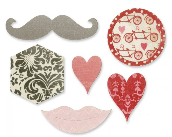 New! Sizzix Bigz Die - Kiss Mix by Echo Park Paper Co.