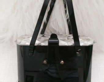 Vintage lucite handbag. Ultimate lady bag to suit your personal style
