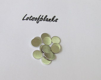 3/8 Circle Blanks - 20 gauge -Aluminum Hand stamping metal disc  -Stamping Supplies - headband accessories - tiny blanks