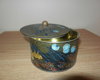 Painted Tin Container
