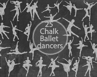 Chalk Ballet Dancers