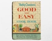 Betty Crocker's Time Saving Recipes | Good & Easy Cook Book  | 1950s Classy Powder Blue Cookbook | 50s Fancy Kitchen Decor | Baking Recipes