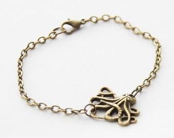 Octopus Bracelet, Kraken Bracelet, Tentacles Bracelet, Nautical Bracelet, Steampunk Octopus Tentacles Jewelry, Kraken Jewelry, Gift for Mom