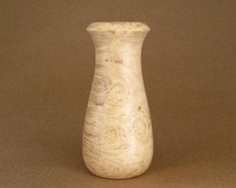 Hancrafted Maple Burl Vase
