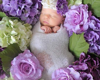 Lavender Headband/Flower Girl Headband/Baby Headband/Infant Headband/Newborn Headband/Toddler Headband/Girls Headband/Girls Headband