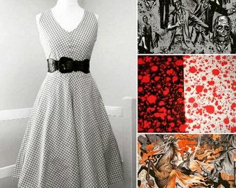 Custom Made Designer Fabric Dress - Robert Kaufman, Michael Miller, Alexander Henry etc You choose the style and fabric (Fabric <15 GBP pm)