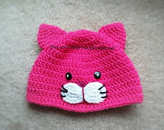 Crochet Pattern For A Hat For A Cat : Crochet kitten hat Etsy
