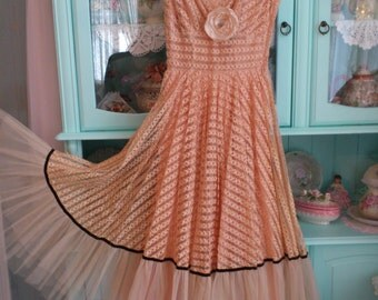 Vintage High End 1940s-50s Marilyn Monroe style Party dress