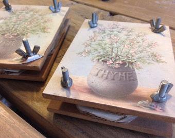 Vintage Wood Flower Press