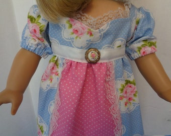 1800s Chemise Doll Dress-  Shown on my 18 inch American Girl Doll