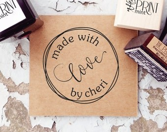 Made by Stamp, Made with love Tag, Handmade by Stamp- Made By Rubber Stamp, Created by Stamp, Self Inking Made By Stamp,   10255