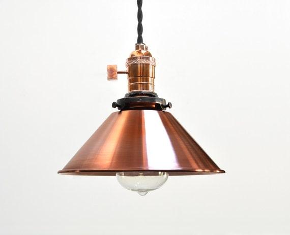 Copper Pendant Light Industrial Pendant Light By