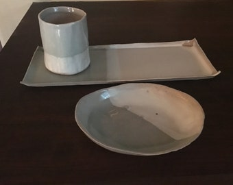Vanity set(tray,ring bowl and cup)