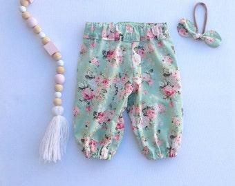 Mint floral harems