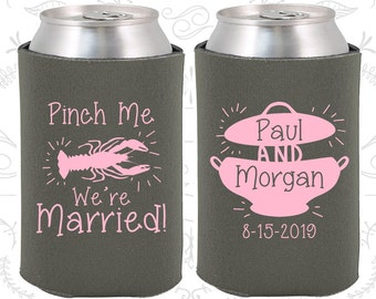 Charcoal Wedding, Can Coolers, Charcoal Wedding Favors, Charcoal Wedding Gift, Charcoal Party Decorations (288)