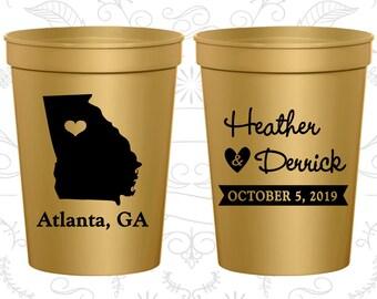 Georgia Wedding Cups, Georgia Stadium Cups, Georgia Plastic Cups, Georgia Cups, Georgia Party Cups (109)