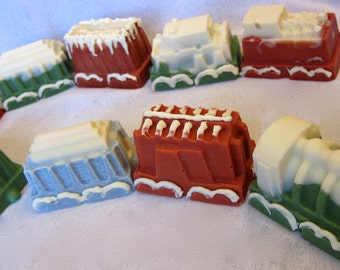 SALE - Christmas train holiday soap