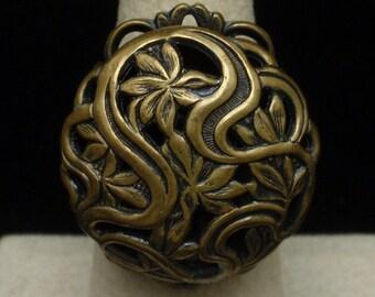 Large Brass Statement Ring Vintage