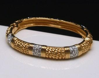 Swarovski Hinged Bangle Bracelet