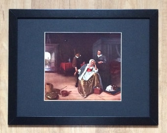 """Framed and Mounted The Lovesick Print by Jan Steen 16"""" x 12"""""""