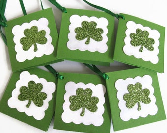 St. Patrick's Day Gift Tags,Personalize Gift Tags, St. Patrick's Day, Shamrock Gift Tags, Irish Party Gift Tag, Shamrock Party Favors, Green
