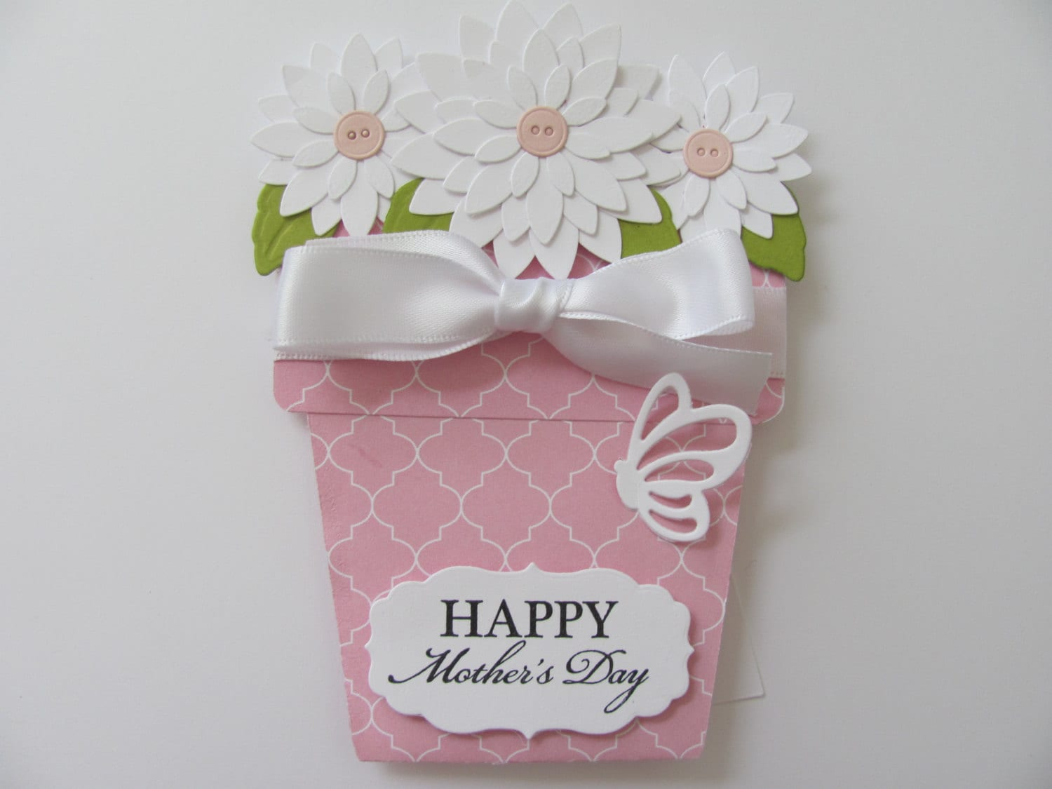 Mothers day card unique flower pot cards momhappy mothers - Unusual mothers day flowers ...