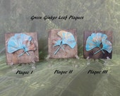 Forged Copper & Brass Ginkgo Leaf Plaques -  Chose Patina-ed Green or Brown - 6 Plaques to Chose From