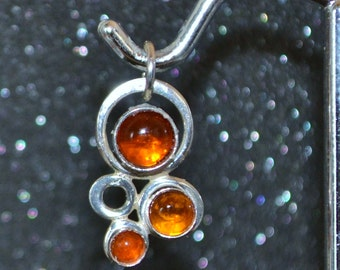Sterling Small Bubbles Pendants - Choose A Gemstone!