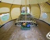 13ft Lotus Belle, beautiful handmade glamping tents, yurt, tipi, teepee, burning man