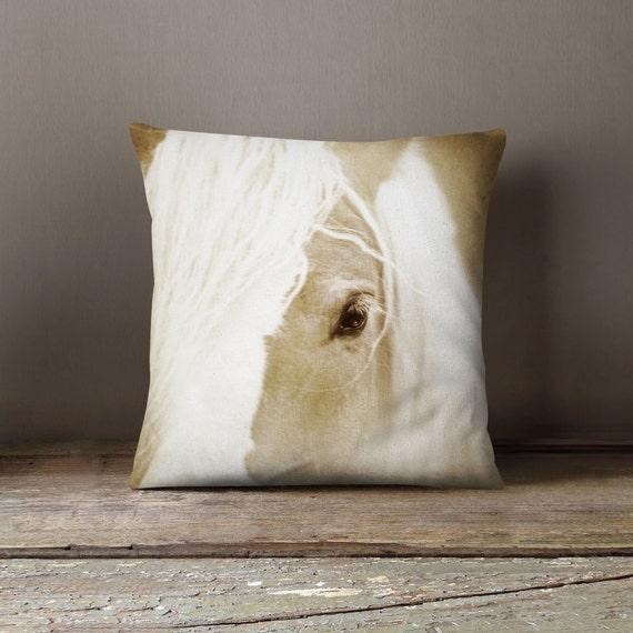 Decorative Horse Pillows : Horse Pillow Cover Decorative Pillow Brown Pillow Equestrian