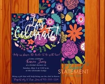 "Floral Celebration - 5x7"" - Digital Invitation"
