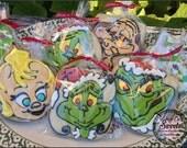 Grinch platter Cookies