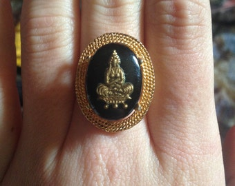 Vintage Krishna Ring Hindi Hindu